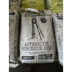 Charbon anthracite supérieur - 25 kg
